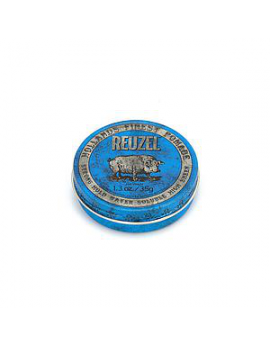 Pomade Cheveux Reuzel Blue - Strong Hold High Sheen - Piglet 35 Gr