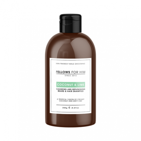 Shampoing Barbe Coconut & Lime 250ml Fellows Essential Gentleman